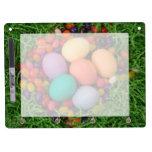Cesta de Pascua - la primavera coloreada Eggs haba Pizarras