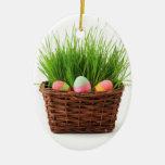 Cesta de Pascua Ornamento Para Arbol De Navidad