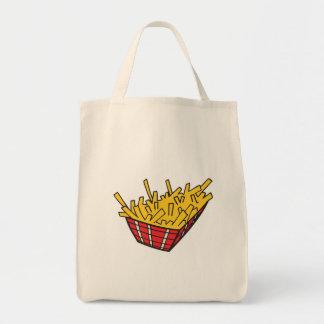 cesta de patatas fritas bolsa tela para la compra