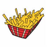 cesta de patatas fritas escultura fotográfica