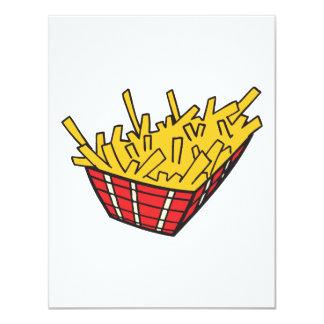 cesta de patatas fritas invitación 10,8 x 13,9 cm