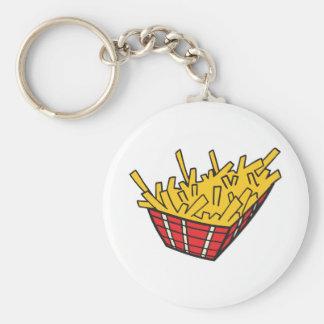 cesta de patatas fritas llavero redondo tipo pin