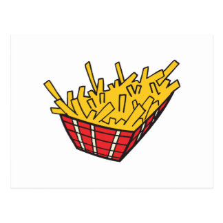 cesta de patatas fritas postal