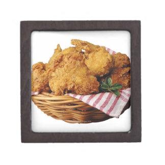 Cesta de pollo frito caja de joyas de calidad