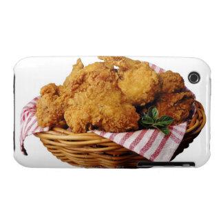 Cesta de pollo frito iPhone 3 Case-Mate coberturas