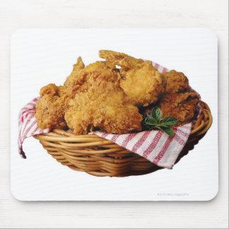 Cesta de pollo frito mousepad