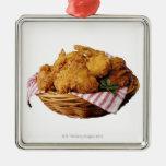 Cesta de pollo frito ornamentos de navidad