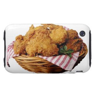 Cesta de pollo frito tough iPhone 3 carcasas