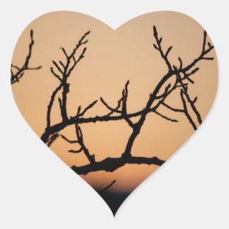 Cesta de puesta del sol pegatinas corazon
