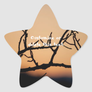 Cesta de puesta del sol; Personalizable Pegatina En Forma De Estrella