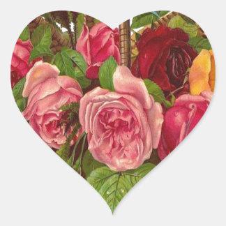 Cesta de rosas etiquetas