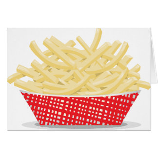 Cesta de tarjetas de felicitación de las patatas