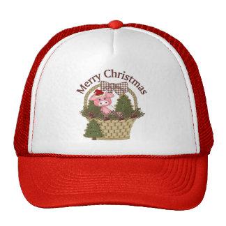 Cesta del cerdo del día de fiesta del navidad - pe gorras de camionero