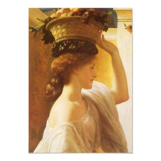 Cesta del chica w de fruta, Victorian del vintage Anuncios