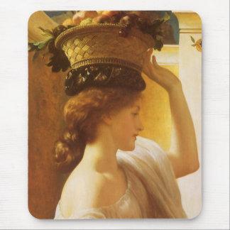 Cesta del chica w de fruta Victorian del vintage