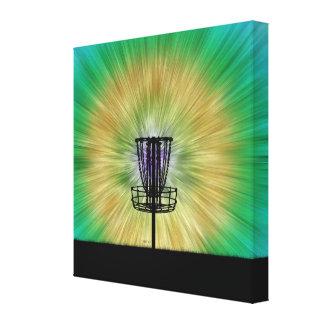 Cesta del golf del disco del teñido anudado impresiones de lienzo