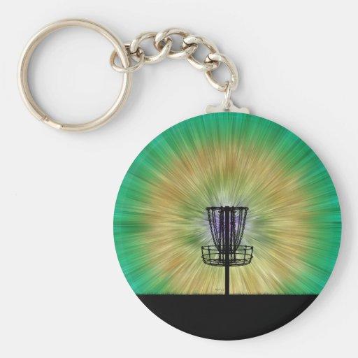 Cesta del golf del disco del teñido anudado llavero personalizado
