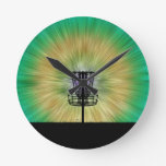 Cesta del golf del disco del teñido anudado reloj de pared