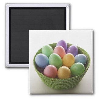 Cesta del huevo de Pascua Imán Cuadrado