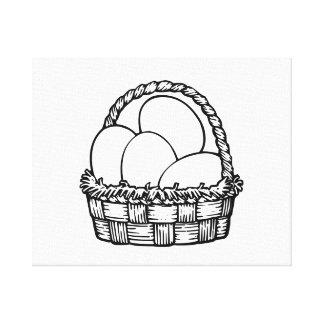 Cesta del huevo de Pascua Lona Estirada Galerías