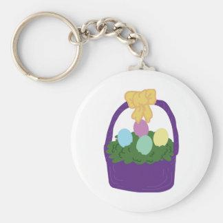 Cesta del huevo de Pascua Llavero Redondo Tipo Pin