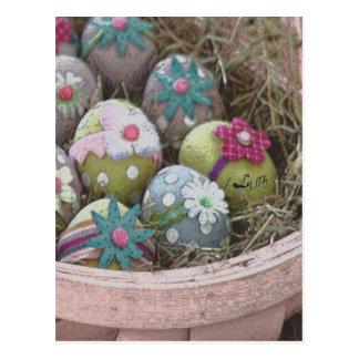 cesta del huevo de Pascua Postales