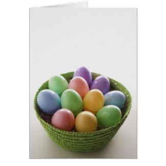 Cesta del huevo de Pascua Tarjeta De Felicitación