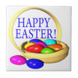 Cesta feliz de Pascua Azulejos Cerámicos
