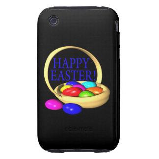 Cesta feliz de Pascua iPhone 3 Tough Protectores