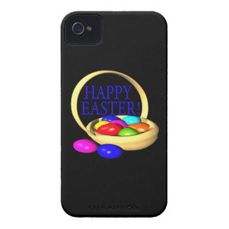 Cesta feliz de Pascua iPhone 4 Case-Mate Protectores