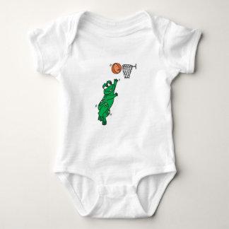 cesta linda del tiroteo de la rana body para bebé