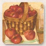Cesta todavía de las manzanas de la vida - sistema posavaso