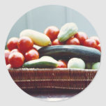 Cesta vegetal pegatina