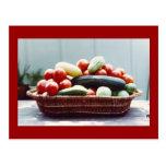 Cesta vegetal tarjetas postales