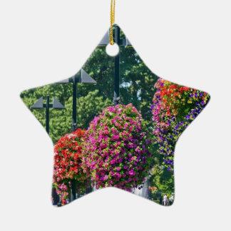 Cestas colgantes de la flor adorno de cerámica en forma de estrella