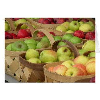 Cestas de Apple en el mercado Tarjeta Pequeña