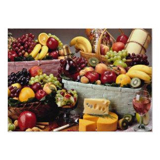 Cestas de fruta, fruta mezclada y quesos anuncio personalizado