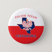 Cestohowa Polish Texan Button