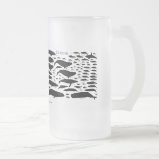 Cetaceans Frosted Glass Beer Mug