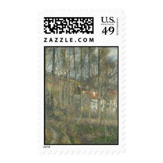 Cete des Boeufs, the Hermitage by Camille Pissarro Stamp