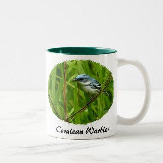 Ceurlean Warbler, Yellow Warbler II Two-Tone Coffee Mug