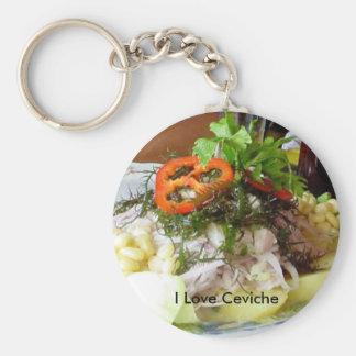 Ceviche Basic Round Button Keychain