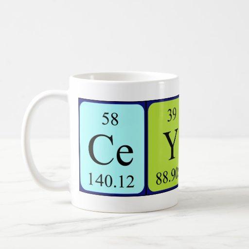 Ceylin periodic table name mug