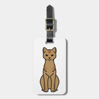 Ceylon Cat Cartoon Bag Tag
