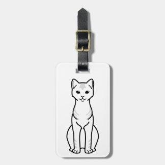 Ceylon Cat Cartoon Luggage Tag