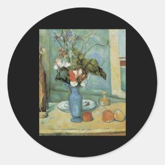 Cezanne Blue Vase Sticker