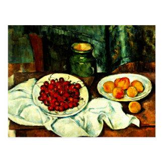 Cezanne - cerezas tarjeta postal