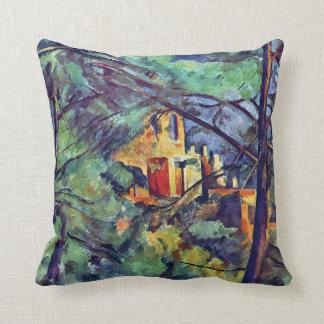 Cezanne - Chateau Noir Throw Pillow
