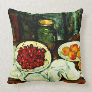 Cezanne - Cherries Throw Pillow