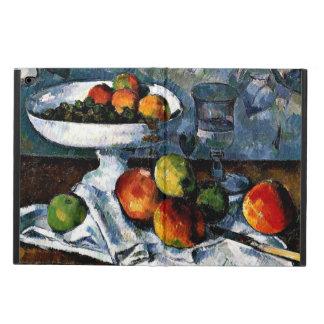 Cezanne - Compotier, vidrio y manzanas